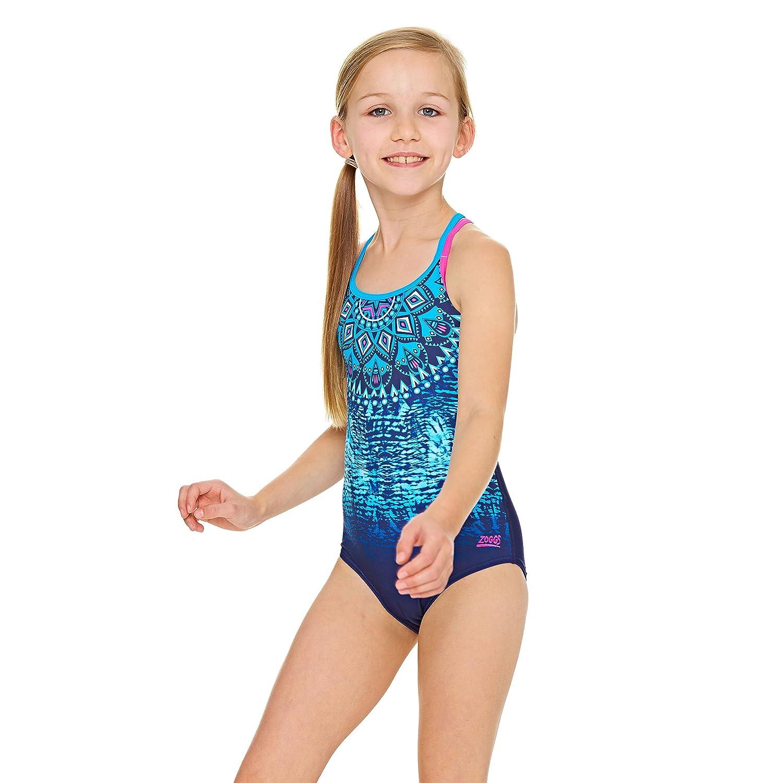 Zoggs Girls' Native Spirit Double Crossback Swimsuit