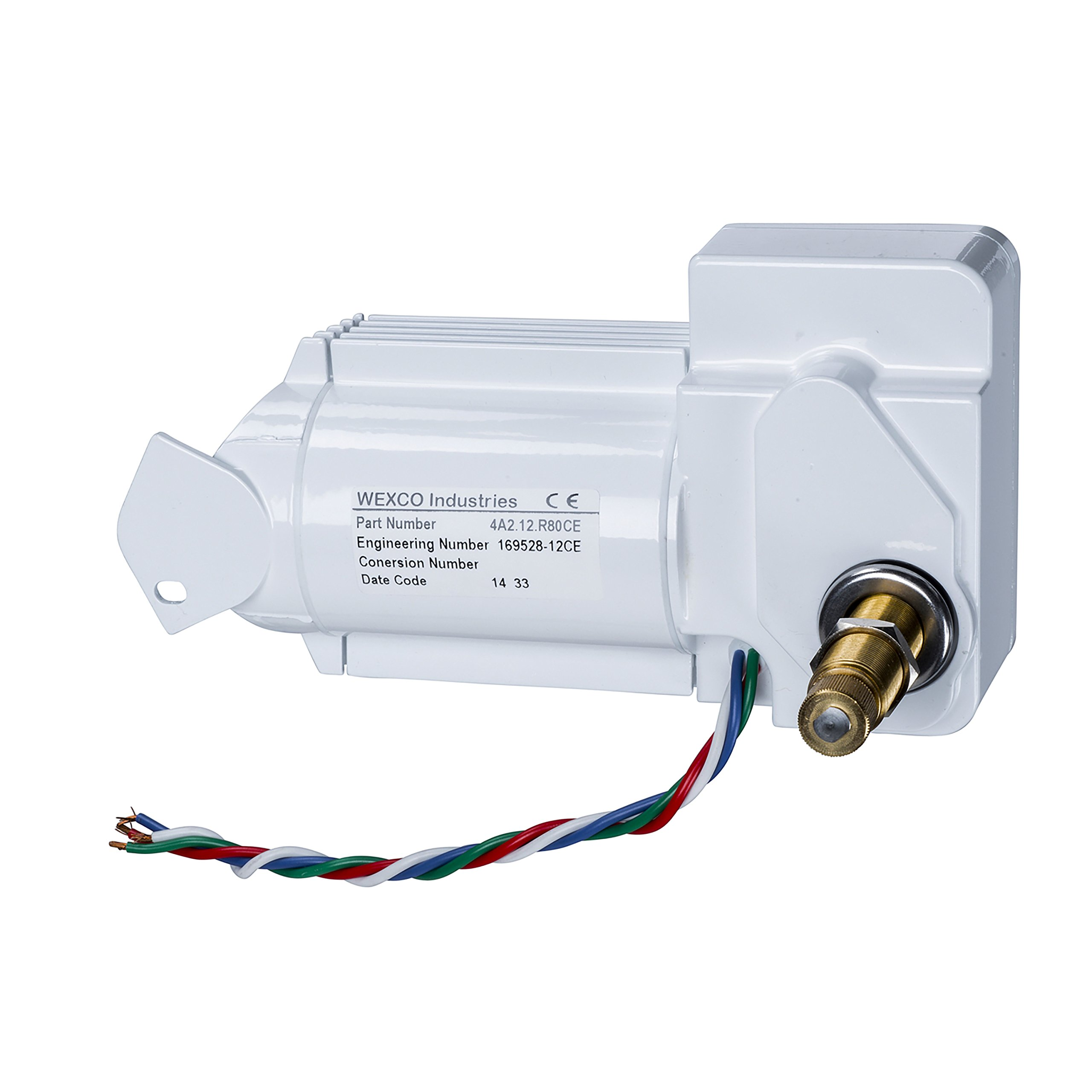 Wexco Wiper Motor, 4A2.12.R110DCE, Two and a half inch (2.5'') shaft, 12V, CE Certified by AutoTex