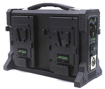 Patona - Cargador para baterías V-Mount (4 Canales con Cable XLR de 4 Pines)