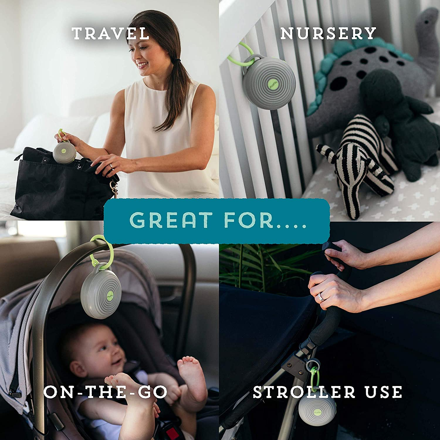 Uses for the yogasleep hushh: travel, nursery, on-the-go, and stroller use