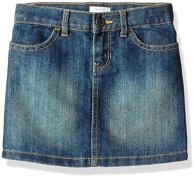 c4c26909fe Amazon.com: The Children's Place Big Girls' Denim Skirt, Dark ...