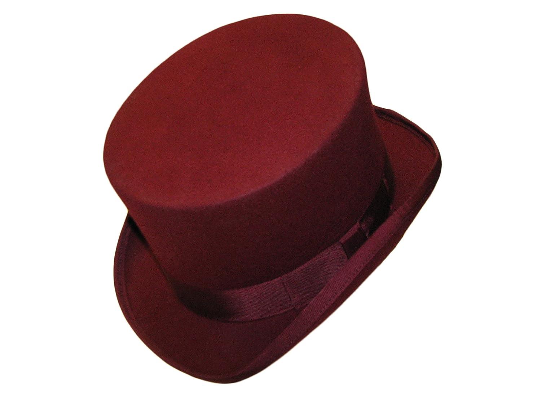 rivestito in satin 100/% lana Cappello a cilindro di alta qualit/à inscatolato Blue Small