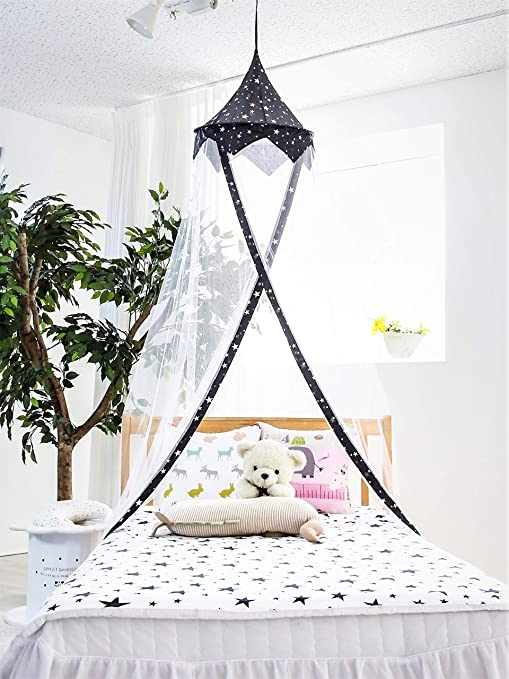 Princess Canopy for Girls Bed – Girl\'s Room Baldachin – Anti-Mosquito  Canopy for Kids Bed – White Mosquito Net for Girls – Baldachin Bed - Ideal  ...
