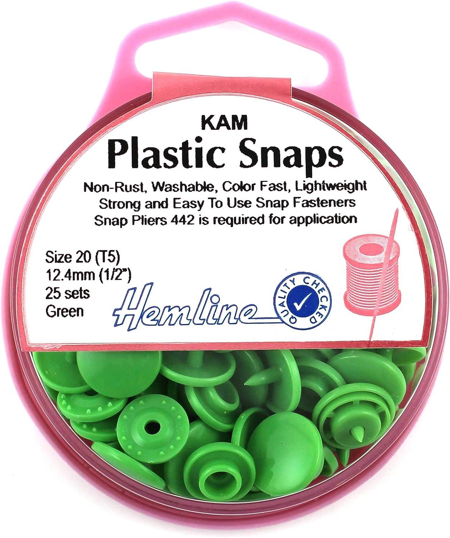 En Plastique Snap Pince Hemline T5 taille 20 Kam plastique SNAPS H442
