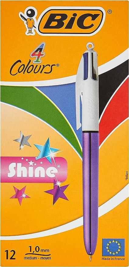 BIC 951351 4 colores shine – Bolígrafo metálico cuerpo, color ...