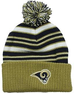 c32da60a4 Los Angeles Rams NFL Little Boys Basic Cuffed Pom Pom Knit Beanie