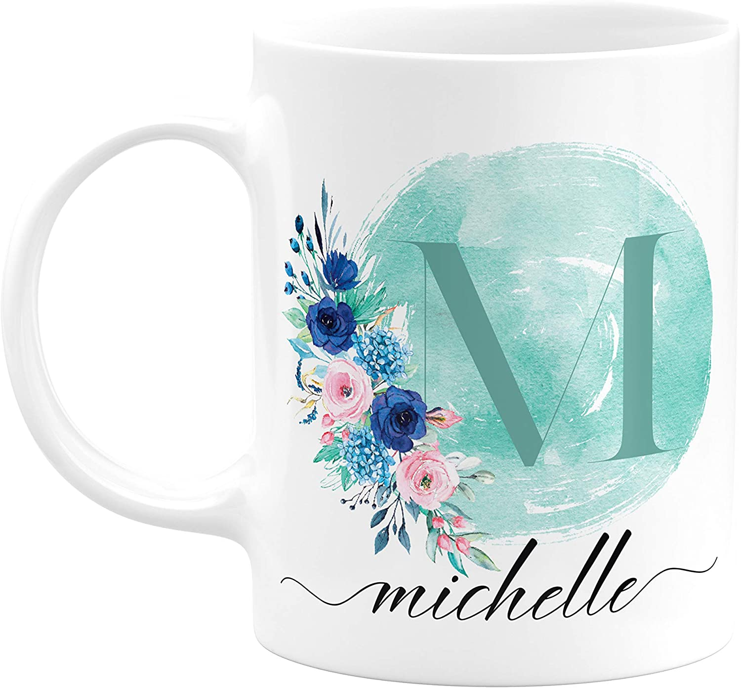 Personalized Name Initial Coffee Mug Monogrammed Best Friend Gift for Her