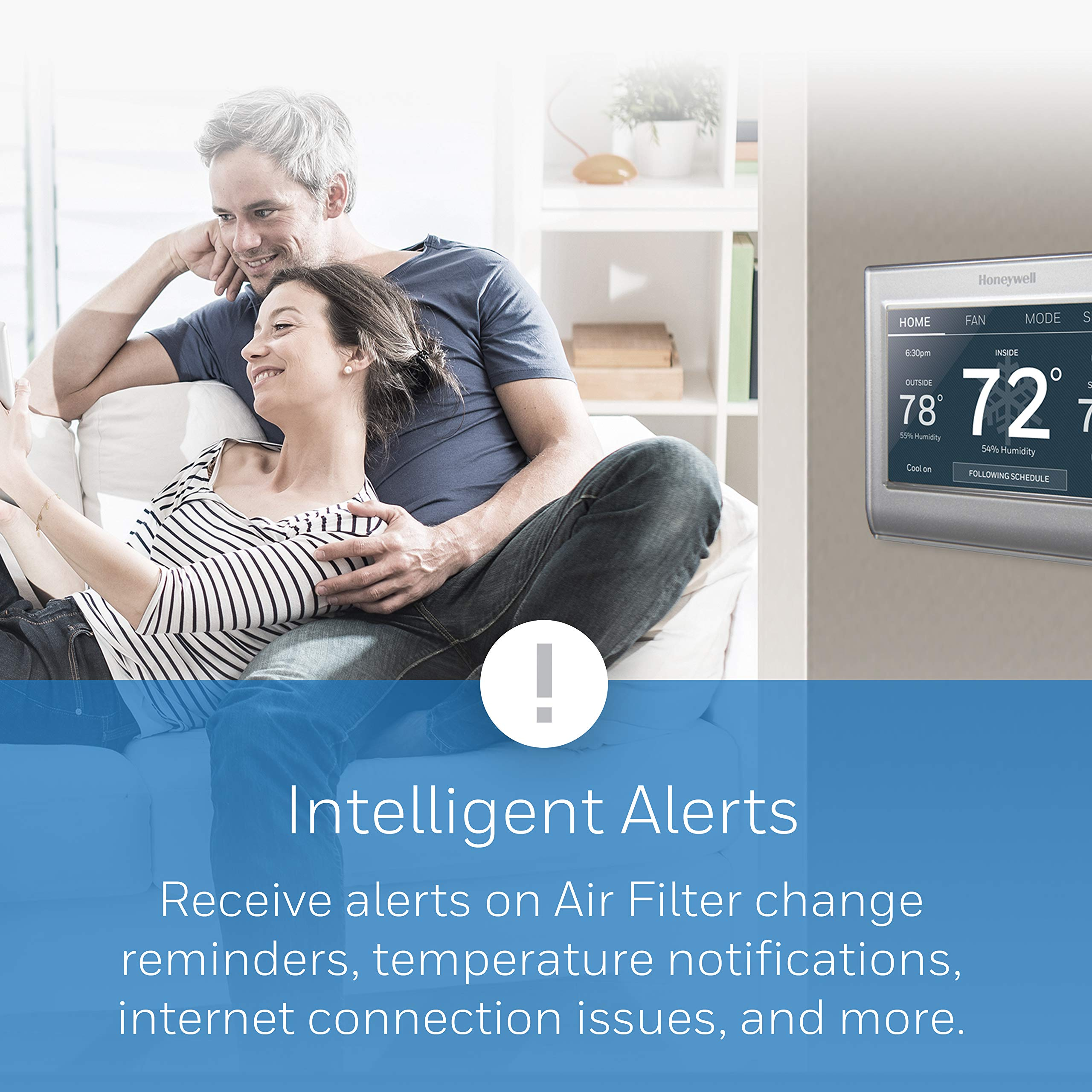 Honeywell Home Wi-Fi Smart Color Programmable Thermostat, Customizable Programming, Alexa and Apple Home Enabled, In-app Programming, Personalized Color Display, Easy Installation, (RTH9585WF1004) by Honeywell (Image #3)