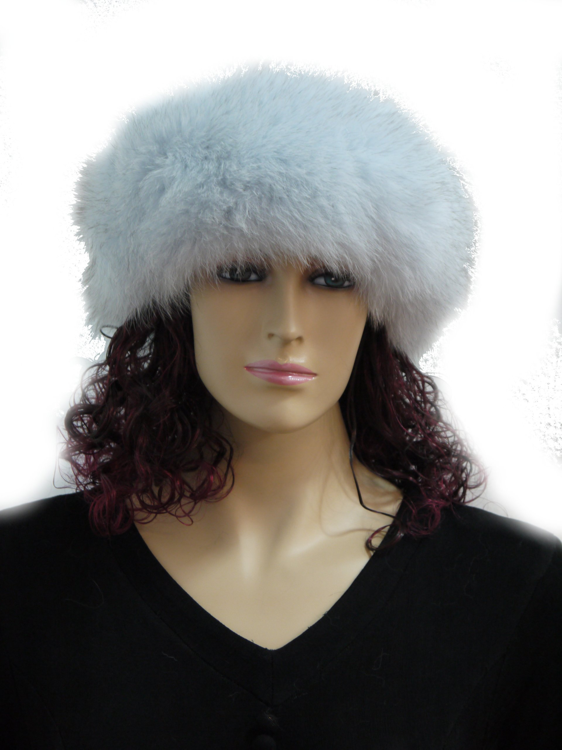 Fox Fur Headband (Light Blue) by Hima