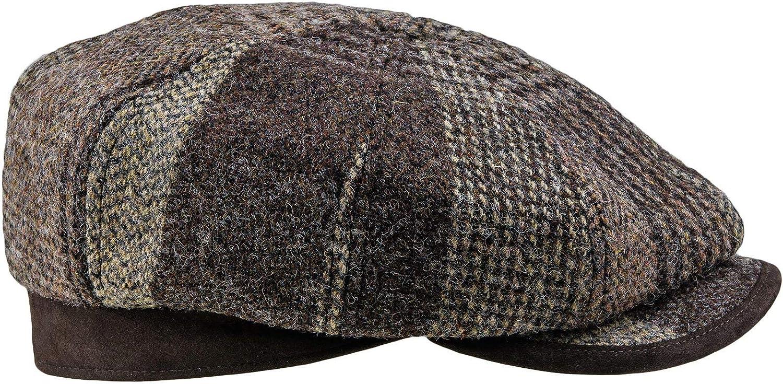 Sterkowski RAMBLER Harris Tweed Flat Cap 4 Panels Gatsby Vintage Retro Newsboy