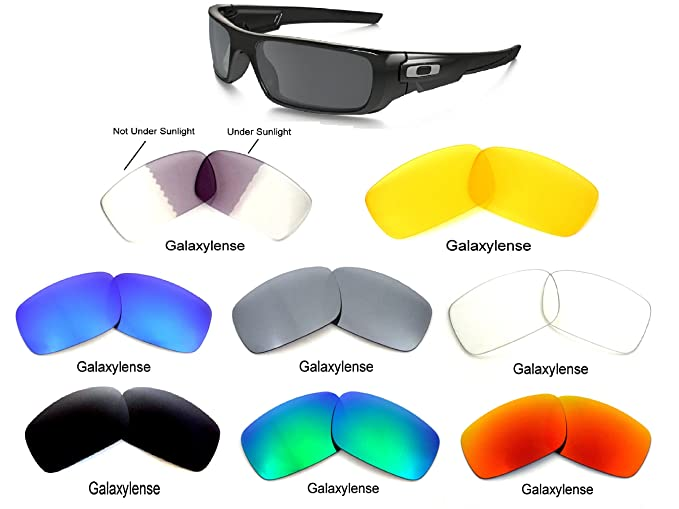 614dc0030c Amazon.com  Galaxy Replacement Lenses For Oakley Crankshaft 8 Colors Pairs  Special Offer!  Clothing