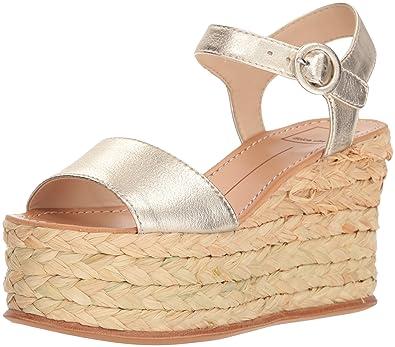 a0123f8325df4e Dolce Vita Women s DANE Wedge Sandal Light Gold Leather 8.5 ...