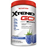 Scivation Xtend Go Amino Energy BCAA Powder for Pre Workout or Anytime Energy, BCAAs, Blue Raspberry, 30 Servings