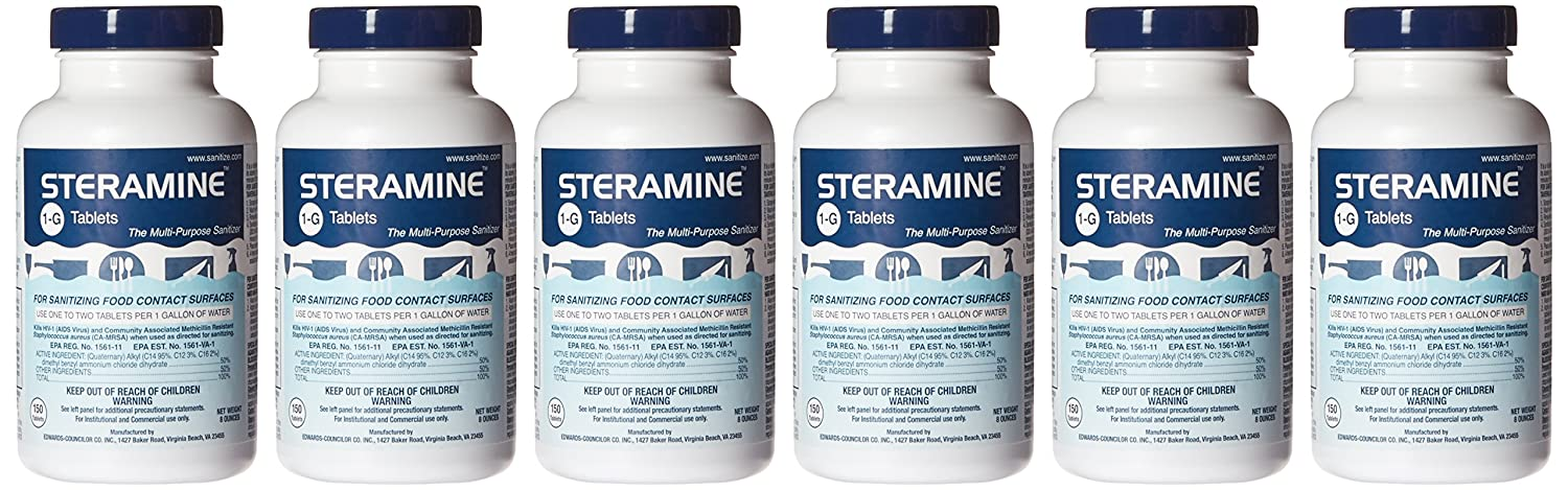 amazon com steramine quaternary sanitizing tablets case of 6