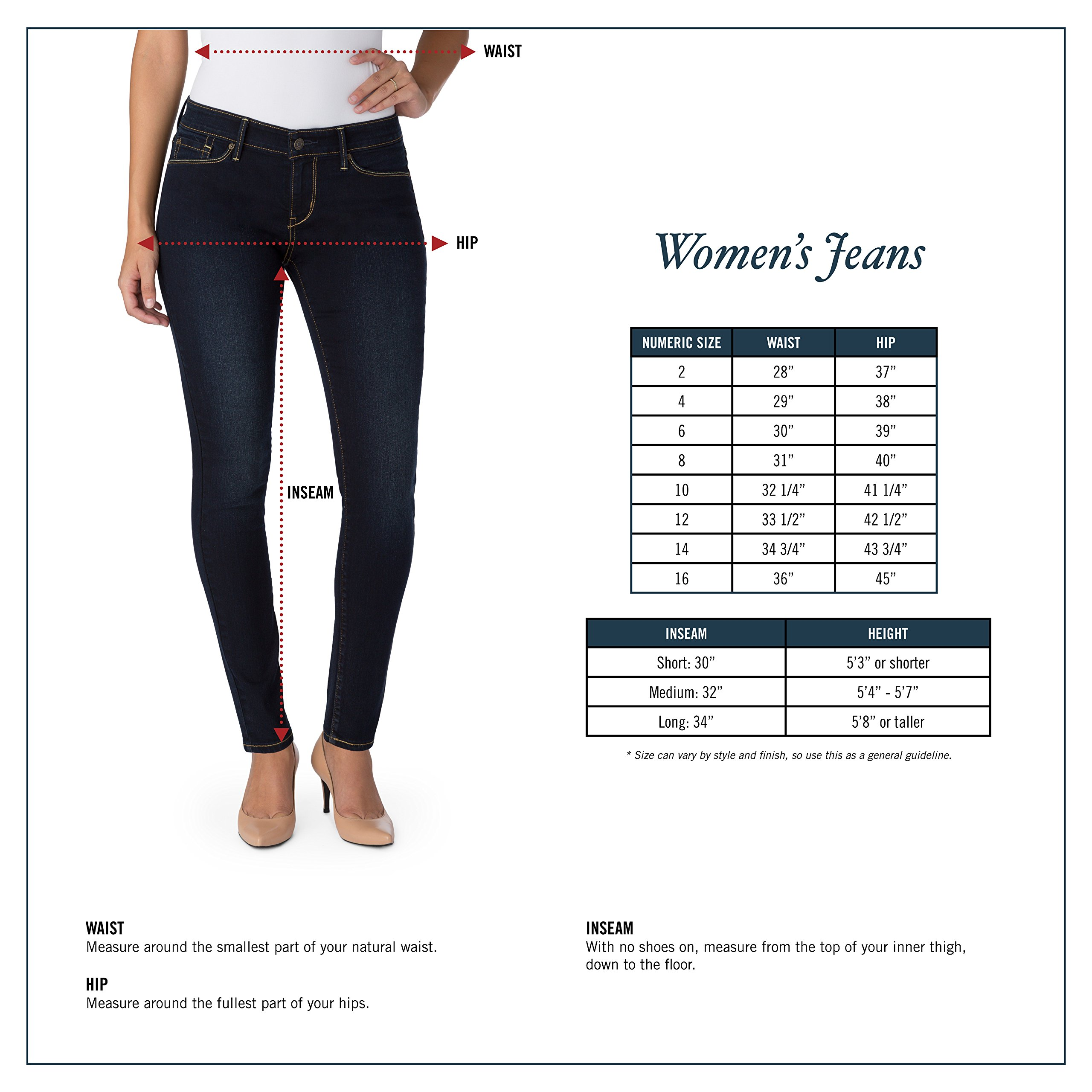 Signature by Levi Strauss & Co. Gold Label Women's Totally Shaping Pull-on Skinny Jeans, Harmony, 6 Long
