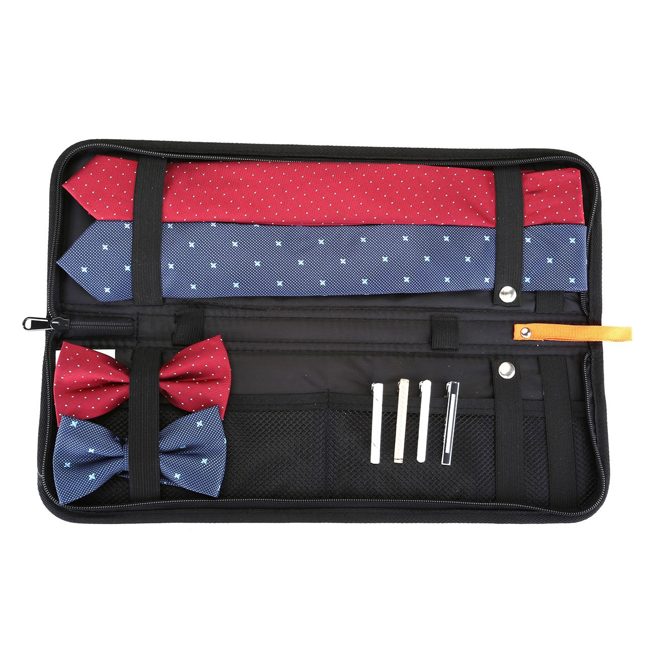 Yerwal Travel Tie Case, Men Business Travel Essentials Necktie Box Travel Tie Case Tie Holder Storage