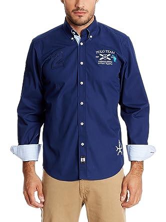 Valecuatro Camisa Hombre Azul Marino L: Amazon.es: Ropa y accesorios