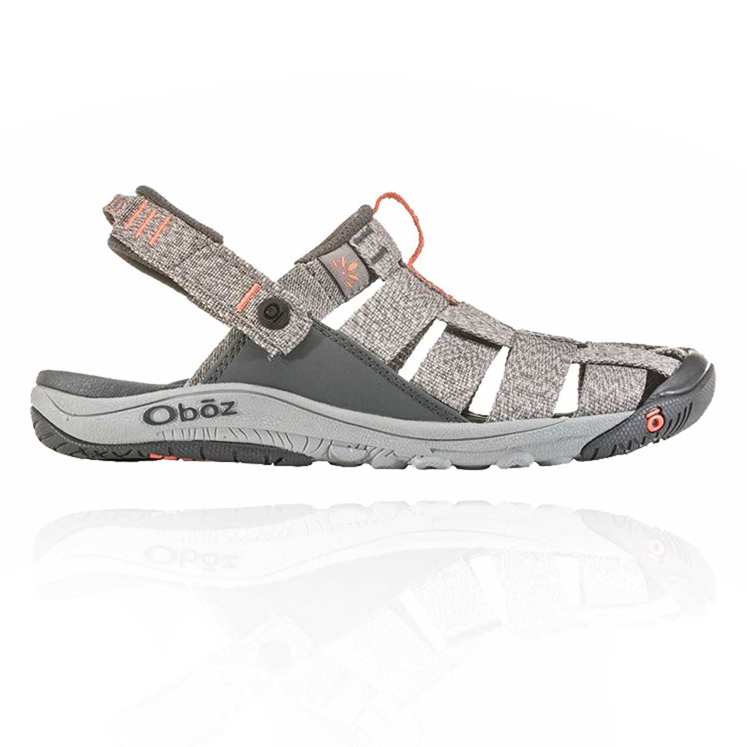 Oboz Women's Campster Sandal B074N7XT4V 11 B US|Heather Gray/Coral