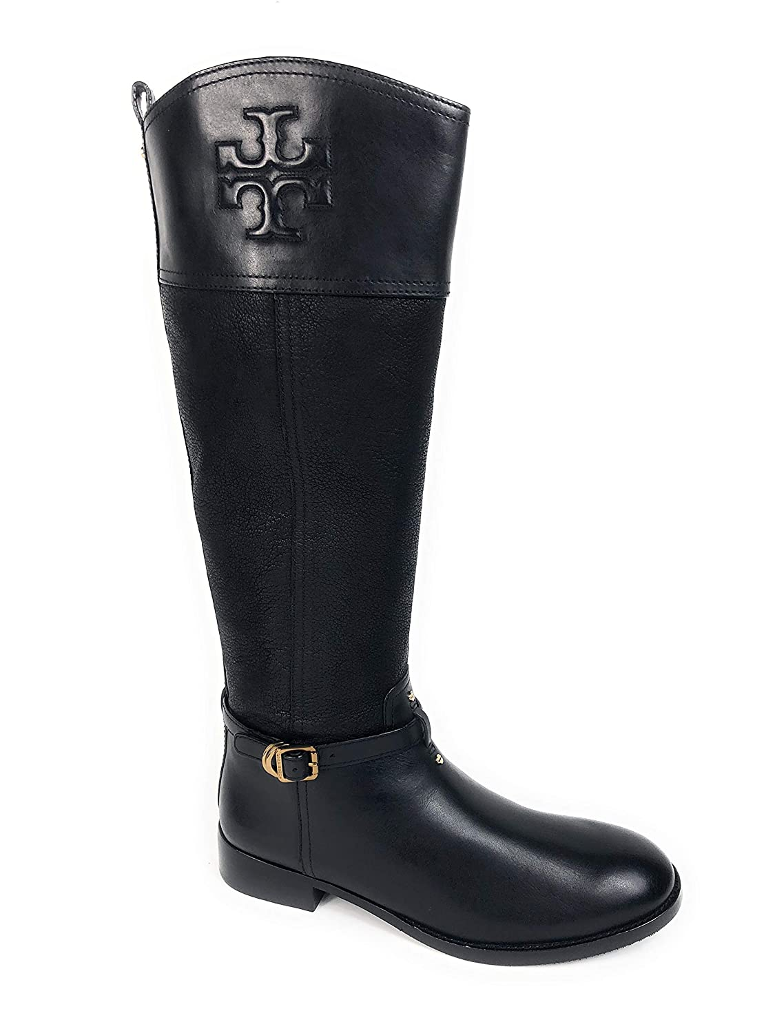 494cd769310 Amazon.com | Tory Burch Simone 35MM Riding Boot 10.5 Black Leather ...