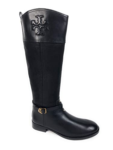 108c1602334 Amazon.com   Tory Burch Simone 35MM Riding Boot 10.5 Black Leather ...