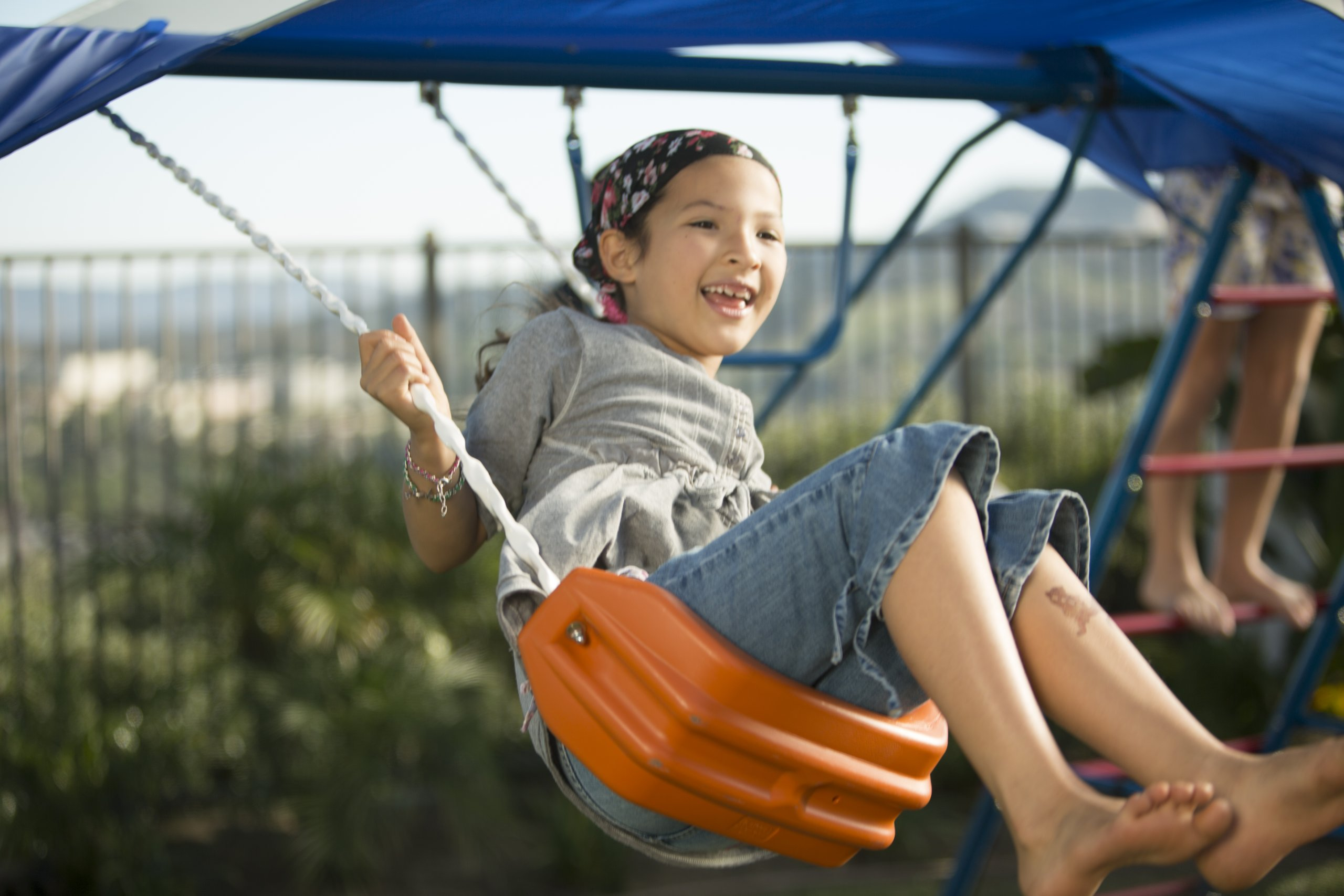 Ironkids Challenge 100 Metal Swing Set with Ladder Climber and UV Protective Sunshade by IRONKIDS (Image #5)