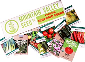 Salad Garden Seed Collection | Deluxe Assortment | 12 Non-GMO Vegetable Gardening Seed Packets: Mixed Greens, Lettuce, Carrot, Cucumber, Pepper, Tomato, & More