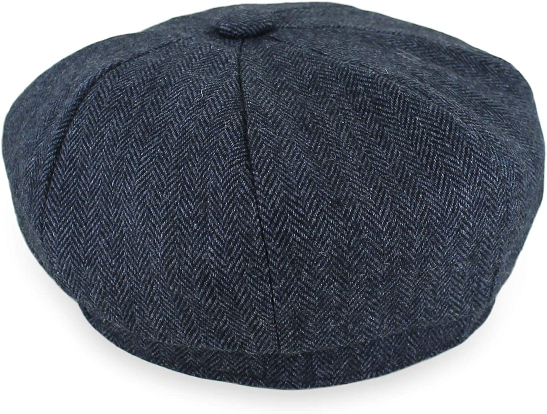 Belfry Newsboy Gatsby Mens Womens Soft Tweed Wool Cap in 8 Colors