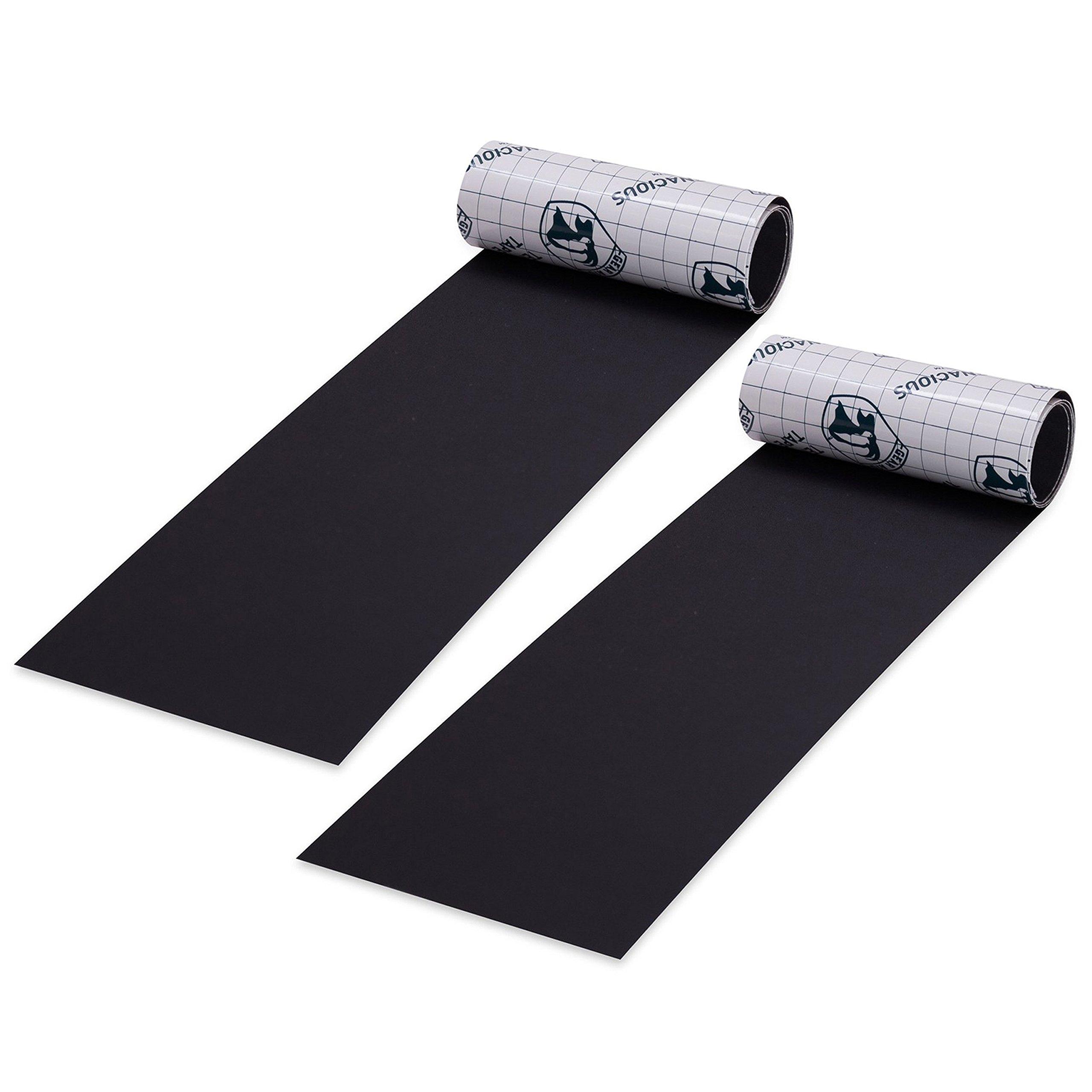 """Gear Aid Tenacious Tape Repair Tape for Fabric and Vinyl, Black Nylon, 3"""" x 20"""" (2 pack)"""