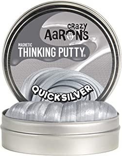 """product image for Crazy Aaron's Thinking Putty 4"""" Tin (3.2 oz) Quicksilver - Magnetic Putty - Magnet Included - Never Dries Out"""