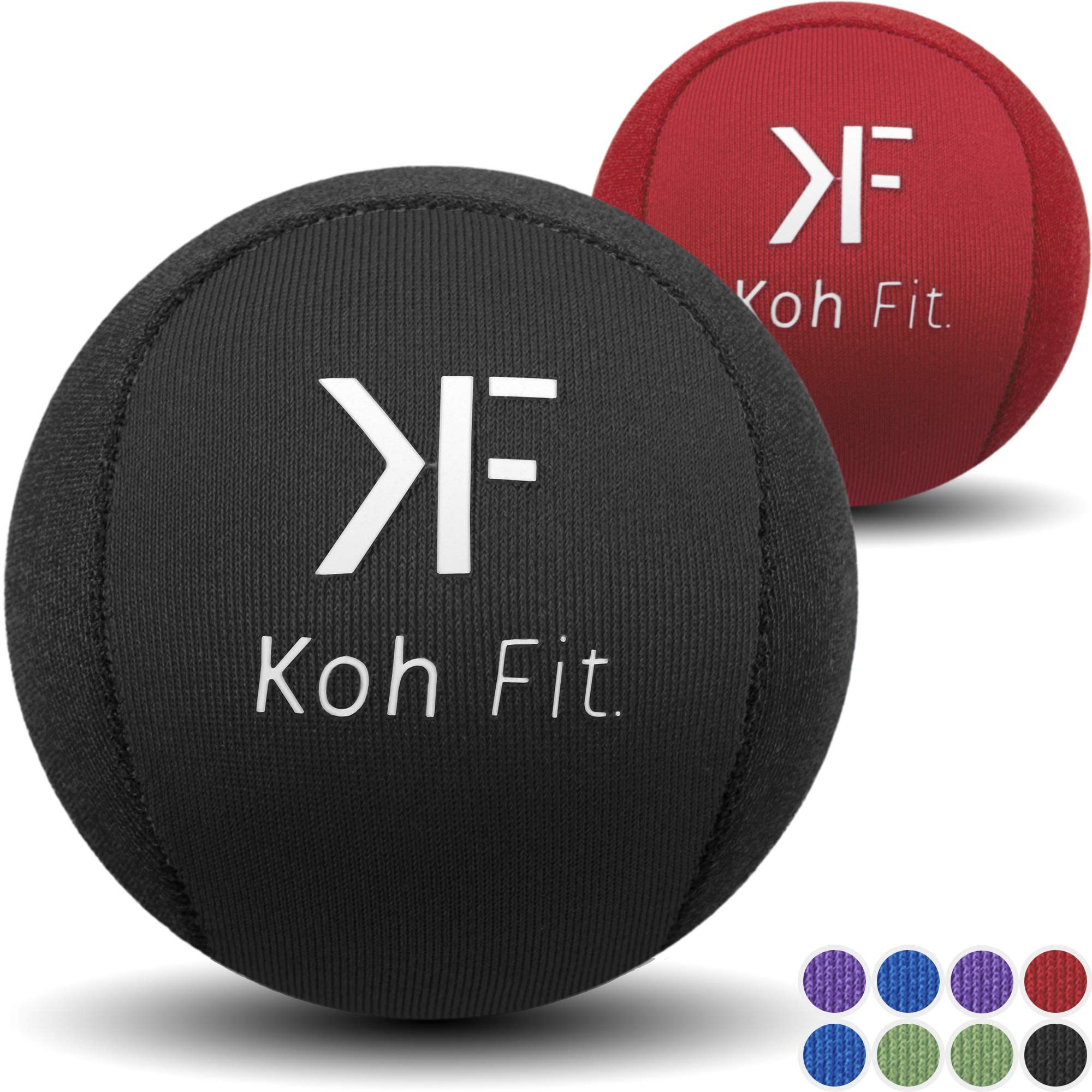 Koh Fit Stress Ball Multipacks - Stress Reliever Squeeze Balls - 2 Bonus Ebooks: Hand Therapy Exercise Guide + Stress Relief Guide