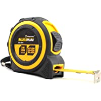 Tape Measure 10-Foot (3m) by Magnelex, Inches and Metric Measuring Tape for Construction, Home Use and DIY, Smooth Sliding Nylon Coated Ruler, Strong Belt Clip, Impact Resistant Rubber Covered Case
