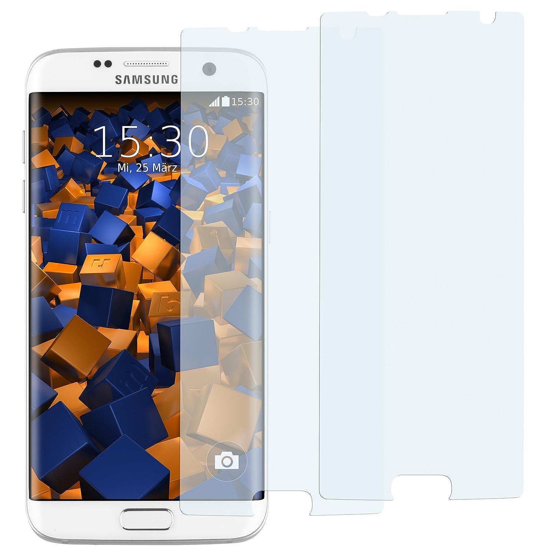 mumbi 2 x Displayschutzfolie für Samsung Galaxy S7 Edge Folie Schutzfolie bewusst Kleiner als Das Display da Dieses gewölbt ist Amazon Elektronik