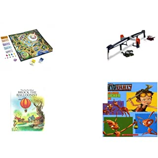 Children's Fun & Educational Gift Bundle - Ages 6-12 [5 Piece] - Includes: Game - Toy - Plush - Hardcover Book - Paperback Book - No. dbund-6-12-29723