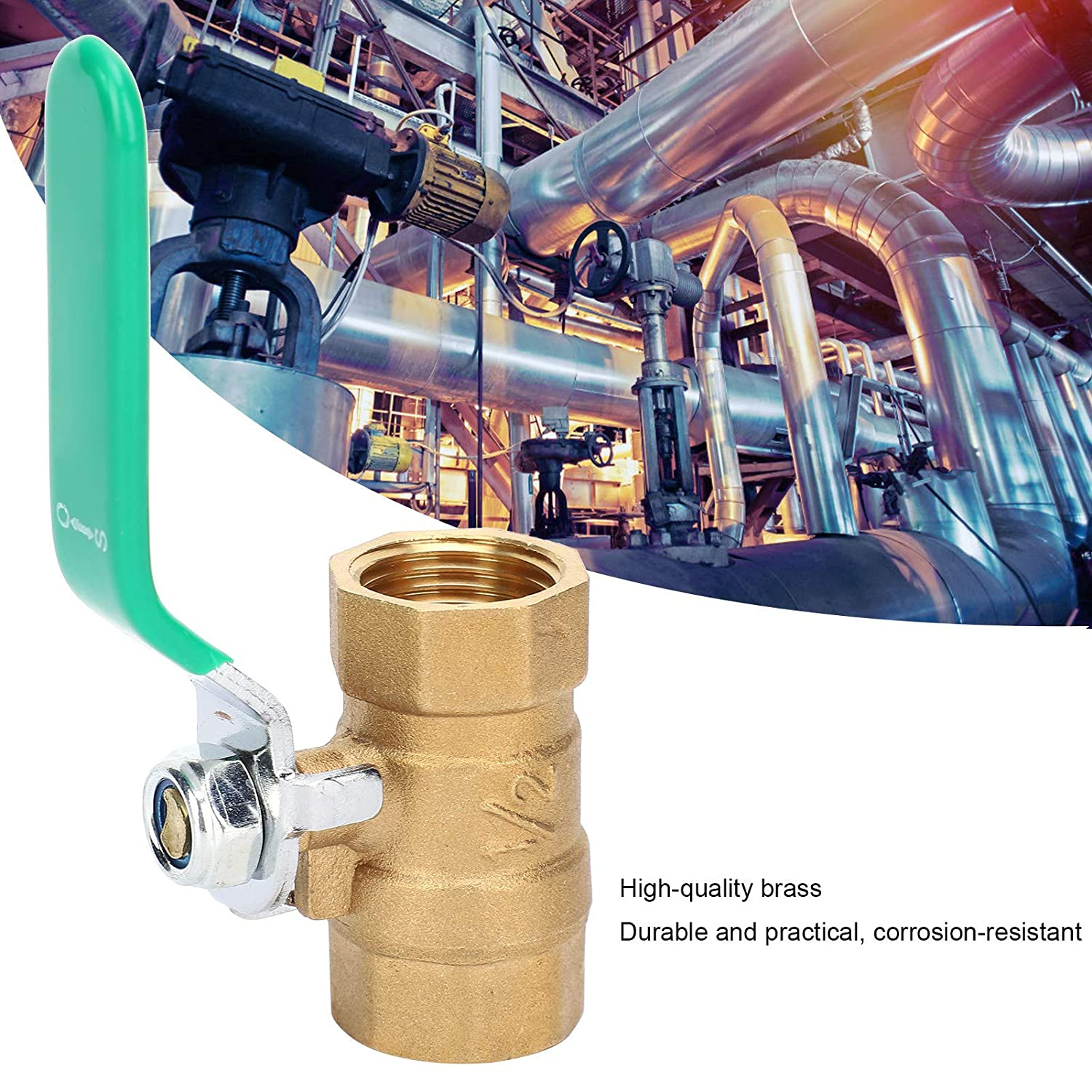 2 Female Thread Valve 1//2in Compression‑Proof and Explosion‑Proof for Cold//Hot Water Piping System Ball Valve