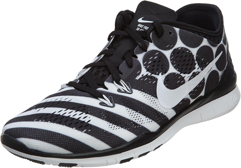 Nike Womens Nke Free 5.0 TR Fit 5 Black White 704695-008 Size 6.5