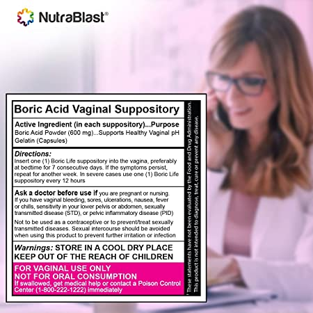 Nutrablast Supositorios vaginales de ácido bórico Boric Life ...