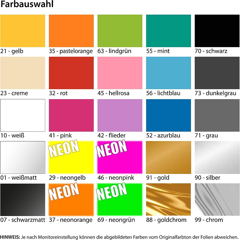 20 x 9 cm IN 15 Farben Kiwistar bis Einer heult Chrom Sticker Aufkleber Neon