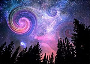 Diamond Painting Kits for Adults, DIY 5D Full Drill Round Crystal Diamond Art Fantasy Starry Sky Picture Canvas Dots Embroidery Diamond Dotz Inlay Craf Painting for New Home Wall Decor 12x16in