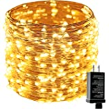 Easternstar Waterproof String Light, 8 Modes 75ft 200LED Fairy Copper Wire Light Plug-for Decorative, Festival, Christmas, Wedding, Party(Warm White)