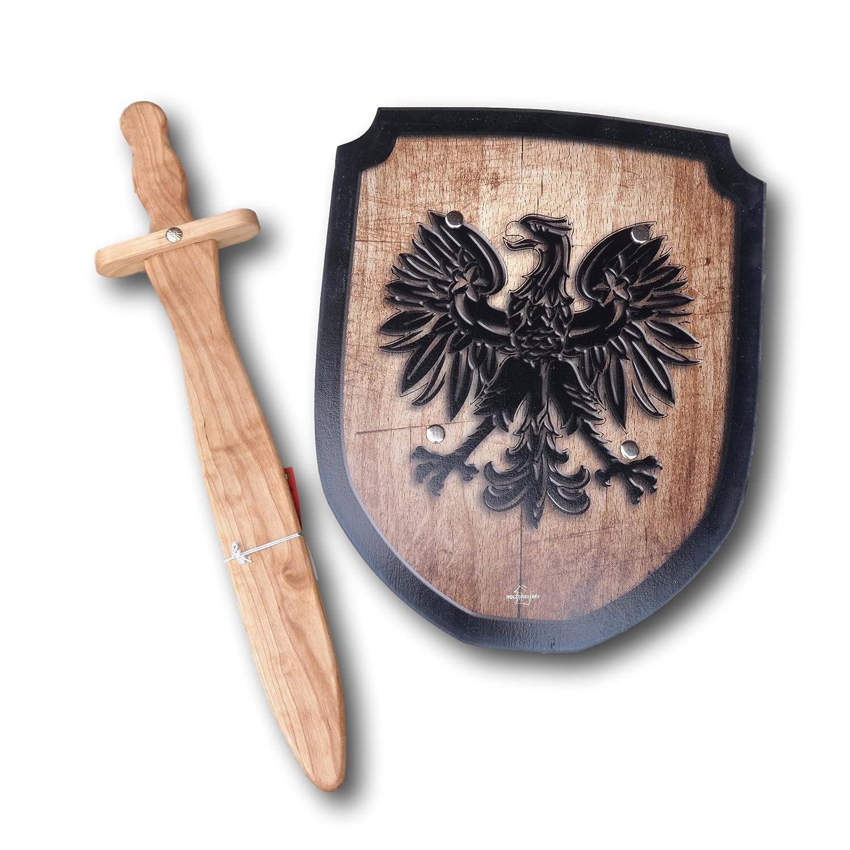 木製Sword and Shield Set – Eagle   B0722X1KWW