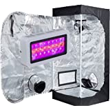 "TopoLite 300W/ 600W/ 800W/ 1200W Full Spectrum LED Grow Light + Multiple Size Grow Tent Dark Room Indoor Hydroponic System Kit (LED 300W, 24""x24""x48"" D-Door)"