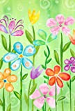 Toland Home Garden Spring Blooms Decorative USA-Produced House Flag, 28 by 40-Inch