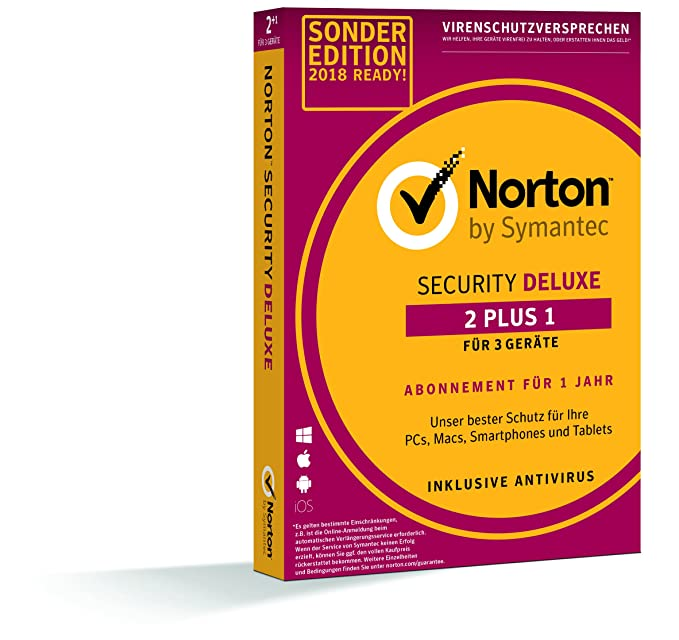 c89f478ab8c50f Norton Security Deluxe 2+1 Sonderedition 2019