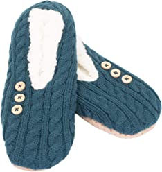 75b048e0a Cable Knit Sherpa-Lined Women's Polyester Slippers, Large