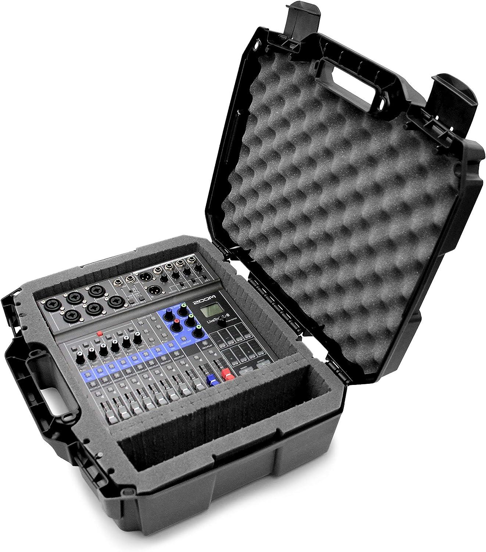 Casematix Studio Travel Case Compatible with Zoom LiveTrak L8 L-8 Digital Mixer Recorder and Select Accessories, Includes Case Only
