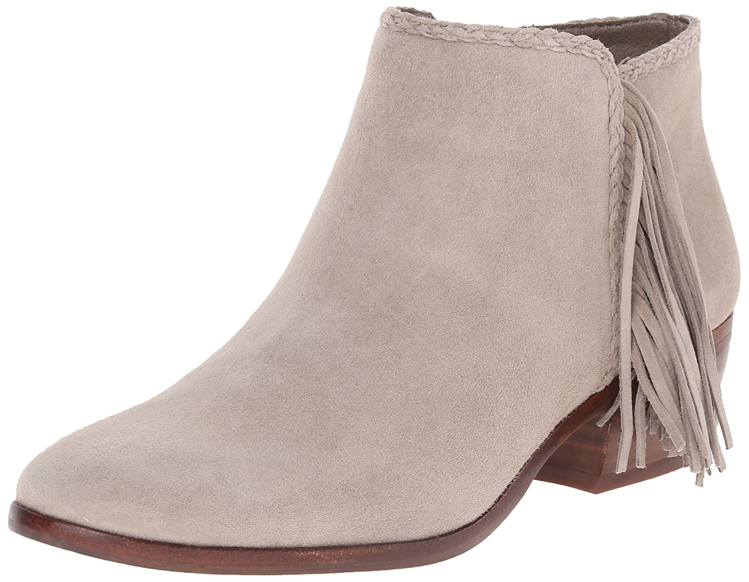 f3f3adcd468e4 Ankle bootie with suede upper featuring braided topline and fringe at side Sam  Edelman Women s B(M) Paige Boot B01440VXLQ 7.5 B(M) Women s ...