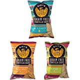 Siete Grain Free Tortilla Chips, 3 Bag (5 Ounce Each) Sampler of Nacho, Lime, Sea Salt