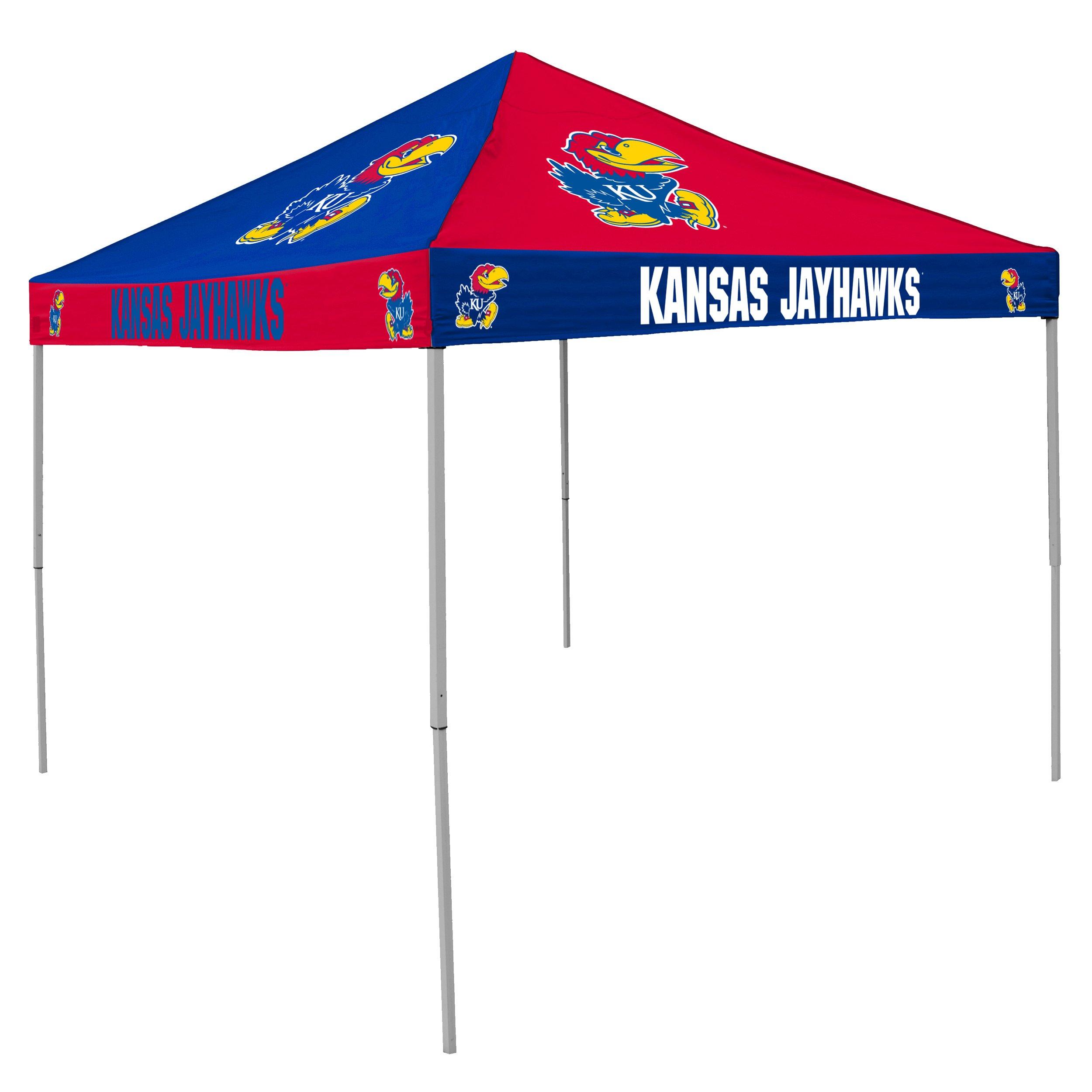 NCAA Kansas Jayhawks 9-Foot x 9-Foot Pinwheel Tailgating Canopy, Blue/Red