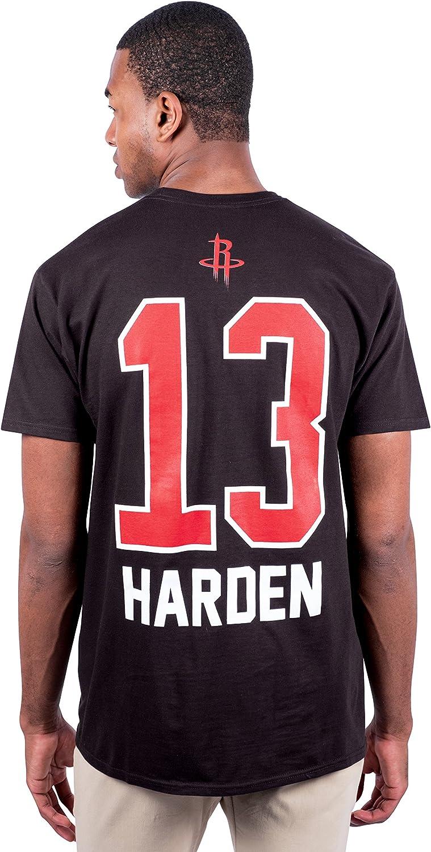 Ultra Game NBA Players Name /& Number Short Sleeve Tee Shirt