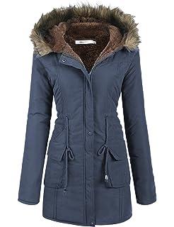d6e37b8d1040 Amazon.com  Beyove Women Winter Coats Military Hooded Warm Faux Fur ...